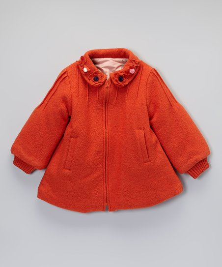 e5dd7eb46 Sweet Charlotte Orange Wool Peacoat - Infant