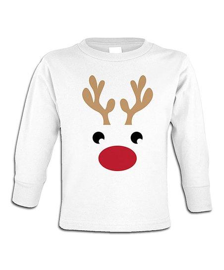 Jiminy Christmas.Jiminy Christmas White Reindeer Face Tee Toddler Kids