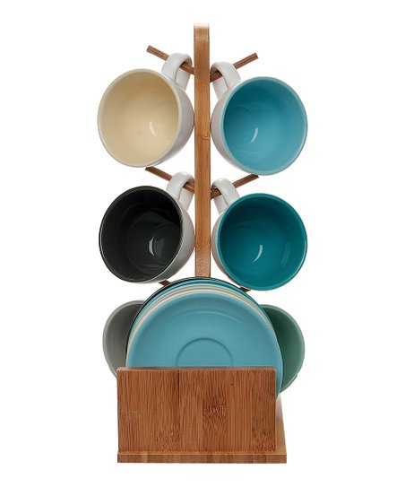 Espresso Cup Saucer Tree Stand Set