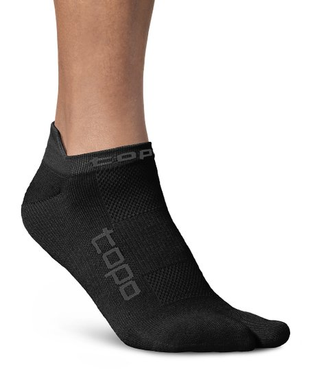 Topo Athletic Black Split-Toe Socks