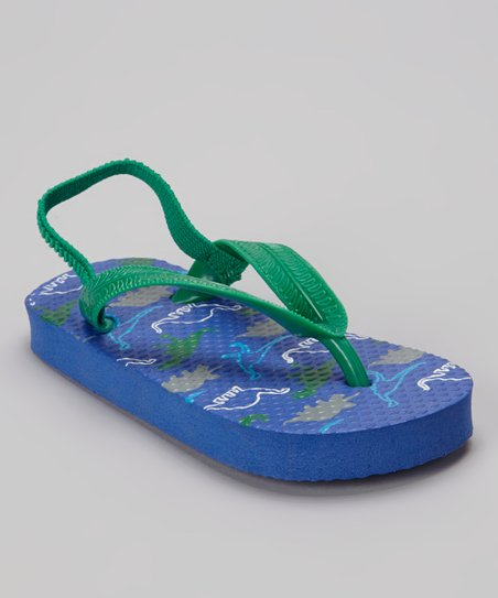 b90133149 love this product Navy Dinosaur Flip-Flop