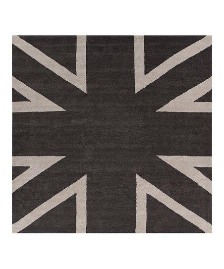 Jaipur Rugs Black Iron Union Jack Wool