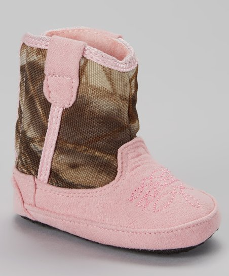 b9198cf33c010 Team Realtree Baby Pink Camo Cowboy Boot - Infant & Toddler | Zulily