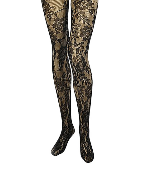 373e6150e love this product Black Floral Fishnet Tights