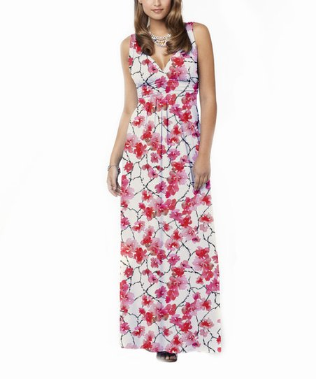 48f6b3773fb TART Collections Coral Fan Feather Adrianna Maxi Dress
