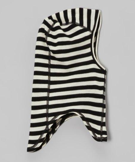 ac244e452f love this product Black & White Stripe Organic Wool Balaclava - Toddler &  Kids