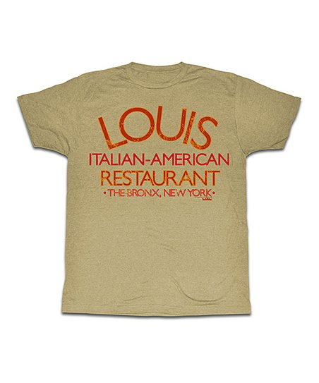 Heather Khaki Louis Italian American Restaurant Tee Men