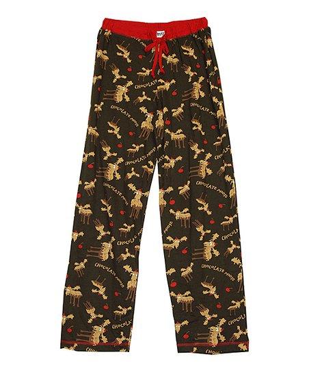 LazyOne Damen Thermo Pyjama Set Classic Moose