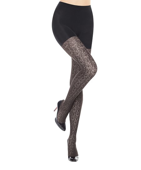 afde73334fd SPANX® by Sara Blakely Takes Off Shaping Tights - Filigree- Black ...