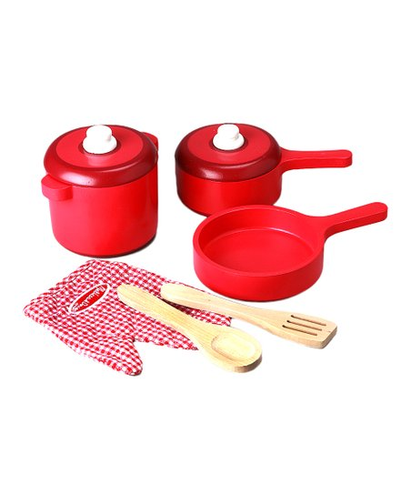 melissa doug deluxe wood kitchen accessory set zulily rh zulily com