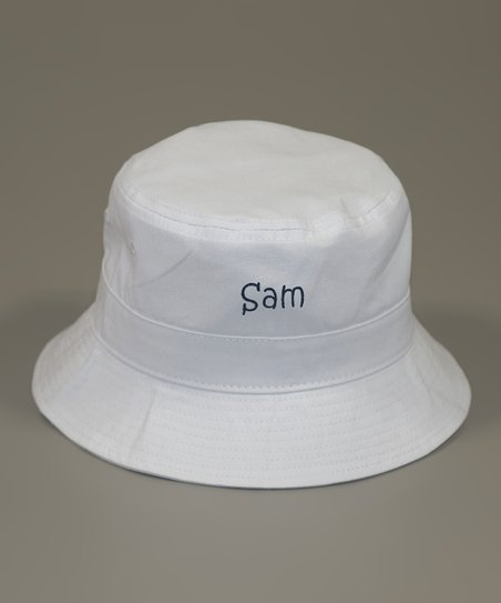 1c0a978e234b1 love this product White   Navy Personalized Bucket Hat