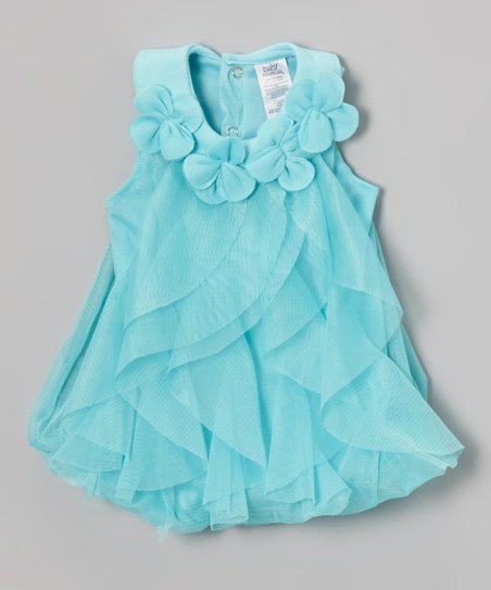 8a5d30c22 Aqua Floral Ruffle Dress - Infant