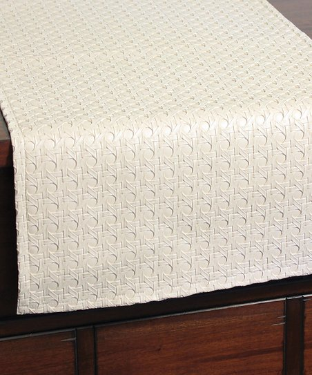 Love This Product White Faux Leather Table Runner