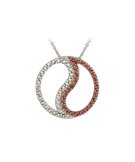 Champagne Diamond Rose Gold Yin Yang Pendant Necklace Best Price And Reviews Zulily