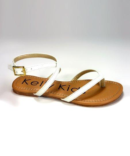 100079b359 Kelly Kids White Patent Kali Sandal | Zulily