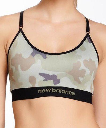 85b873ad2abe7 New Balance Intimates Gray Camo Sports Bra