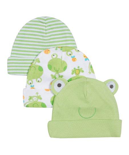 love this product White   Green Frog Beanie Set 1e659badb6