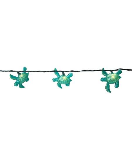 Teal Sea Turtle String Lights