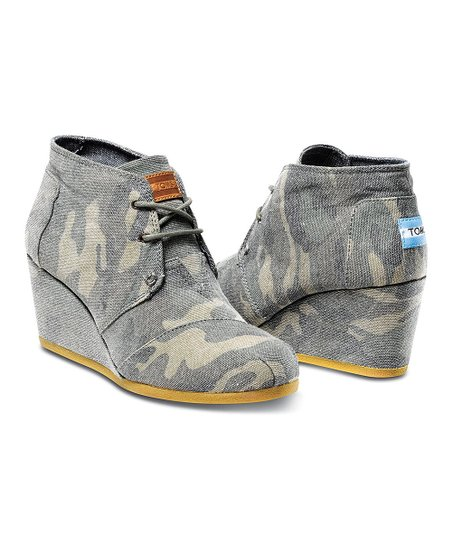 047c4c7e1f288 love this product Washed Camo Canvas Desert Wedge