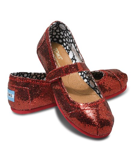 TOMS Red Glitter Mary Jane - Tiny