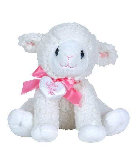 Precious Moments White Pink Jesus Loves Me Lamb Plush Toy Zulily