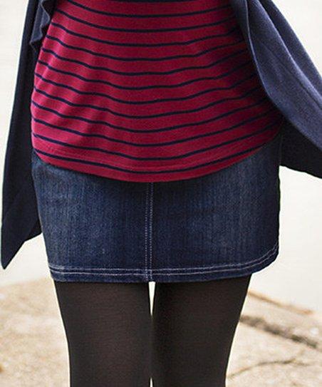 13c3b881f9889 JoJo Maman Bébé Dark Mid-Wash Denim Over-Belly Maternity Mini Skirt ...