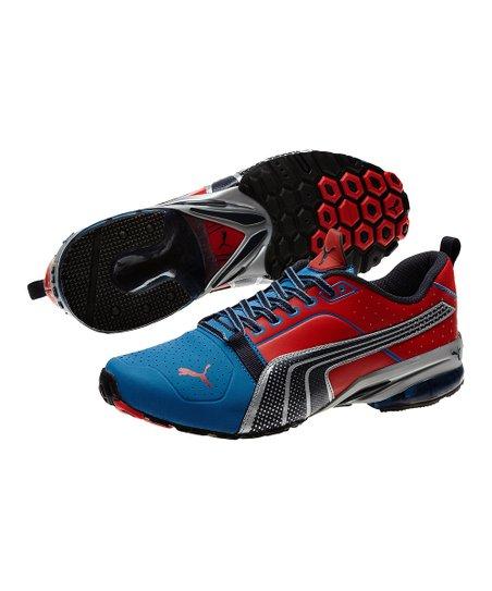 PUMA Vallarta Blue & High Risk Red Cell Gen Running Shoe Men