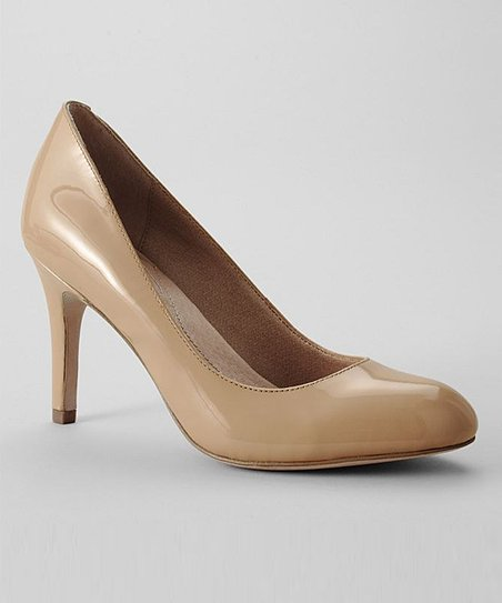 Lands End Nude Ashby Patent Leather