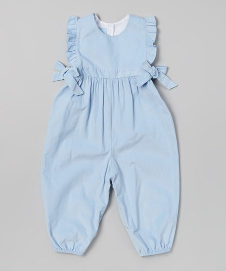 6e4e0507b bella bliss Blue Ruffle Berkley Overalls - Infant   Toddler