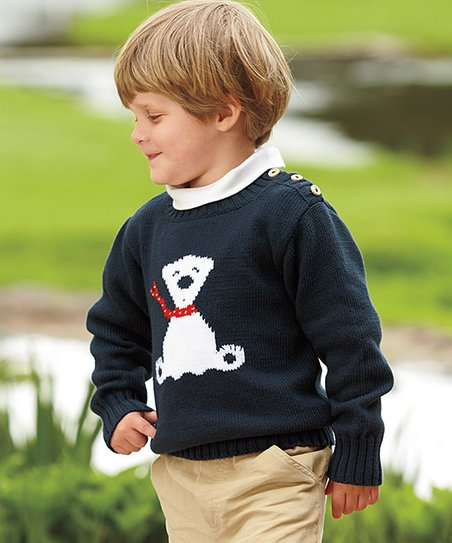 07f0ee4b7 love this product Navy & White Polar Bear Sweater - Infant, Toddler & Boys