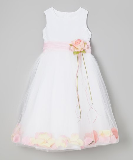 703b1b763 Kids Dream White   Pink Floral A-Line Dress - Infant