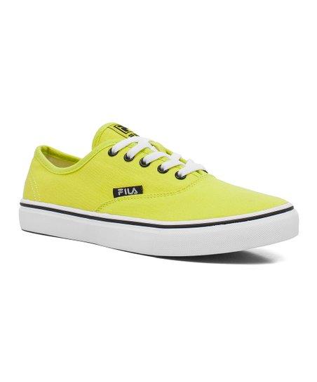 Neon Green Classic Canvas Sneaker - Women