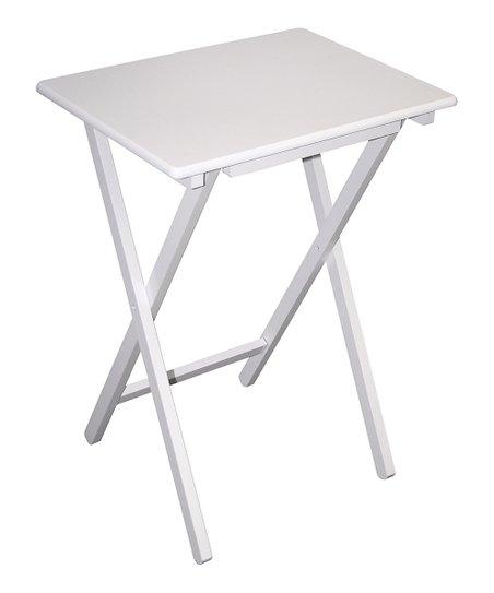 home basics White Folding TV Table  60f083b924