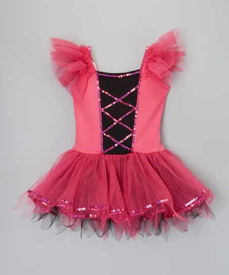 ced79422c9 love this product Fuchsia & Black Faux Corset Tutu Dress - Toddler & Girls