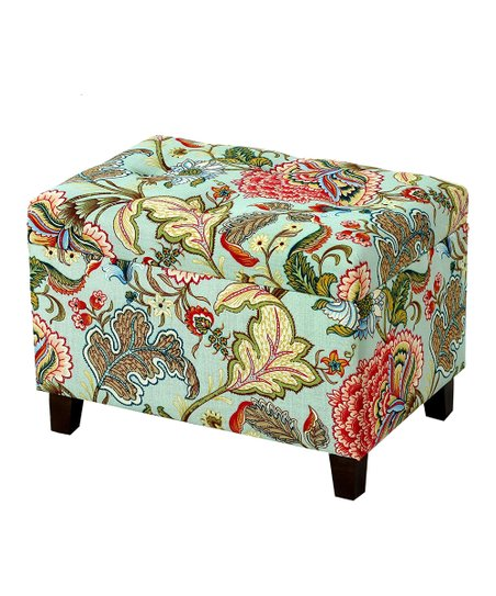 Super Privilege Floral Storage Ottoman Gmtry Best Dining Table And Chair Ideas Images Gmtryco