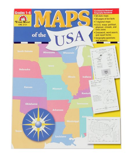 Evan-Moor Educational Publishers Maps of the USA Workbook