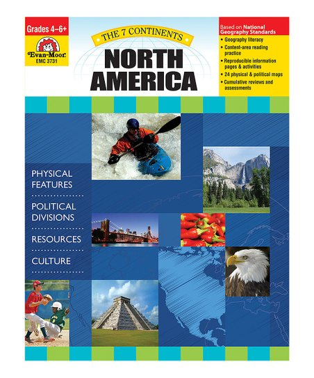 Evan-Moor Educational Publishers The 7 Continents: North America Paperback