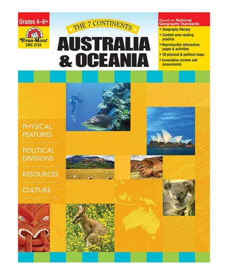 Evan-Moor Educational Publishers The 7 Continents: Australia & Oceania  Workbook