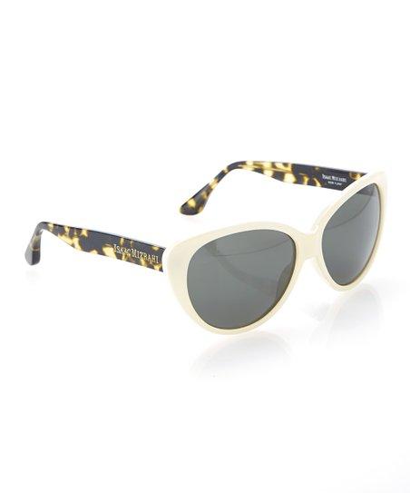 19f0ee34cae90 Isaac Mizrahi New York Ivory   Tortoise Cat-Eye Sunglasses