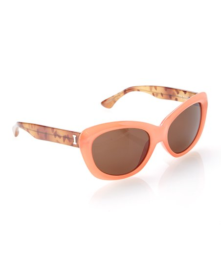 7e57d428bc050 Isaac Mizrahi New York Orange   Tortoise Cat-Eye Sunglasses