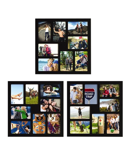 Black Photo Collage Frame Set Of Three Zulily