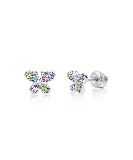 51feb939420ef Chanteur Designs Green Butterfly Stud Earrings With Swarovski® Crystals