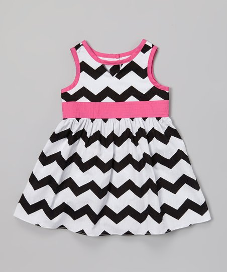 2b49311e7 A.B.S. by Allen Schwartz Black & White Zigzag Dress - Infant | Zulily