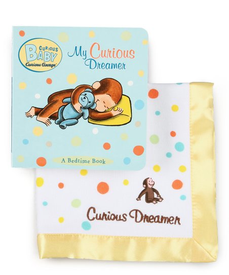 Curious George My Dreamer Board Book Security Blanket