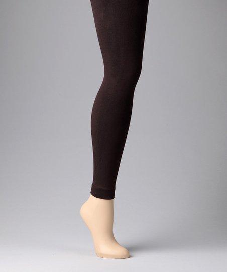 9a2d9953477 MeMoi Chocolate Fleece-Lined Leggings