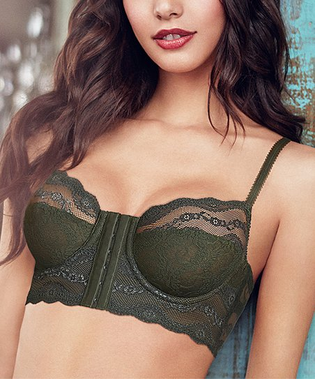 c9ef61d5d1 b.temptd by Wacoal Rosin Lace Kiss Front-Close Longline Bra - Women ...