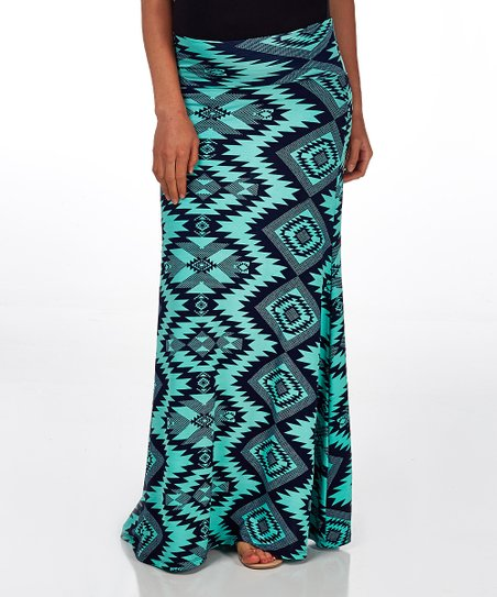 Pinkblush Maternity Mint Green Navy Blue Tribal Mid Belly
