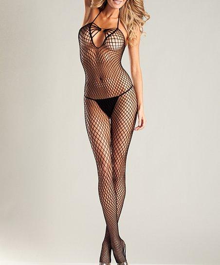 42db6ca4118 Be Wicked! Black Fishnet Halter Bodysuit - Plus