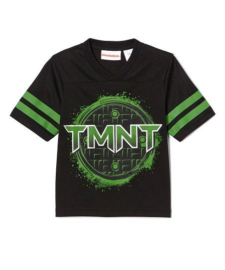 aba2ea8c2 Teenage Mutant Ninja Turtles Black & Green TMNT Football Jersey Tee ...