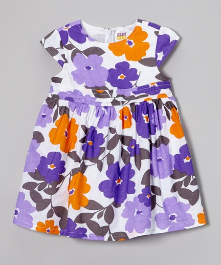 f256644c8aac love this product Purple   Orange Floral Swing Dress - Toddler